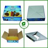 Caisse d'emballage de papier estampée quatre par couleurs pour la crême glacée