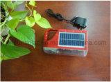 3.7V 3000mh linterna solar recargable portable de la emergencia LED