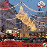 LED-rotes und grünes Motiv über Straßenlaterne-Weihnachtsdekoration für Feiertag
