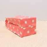 De witte Patronen van Punten maken de Roze Handtas van het Canvas van pvc (waterdicht W001)