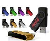 Movimentação do flash do USB do giro do metal do OEM mini com logotipo