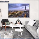 Peinture à l'huile Vibe de Luxuriant City Print on Canvas