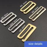 Boucle réglable de vêtements de bain en métal d'or d'accessoires de sous-vêtements
