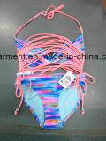 Beachwear Бикини печатание сплошного цвета сексуальный для человека женщин/девушки, износа заплывания