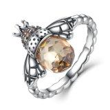 Ring van de Vinger van 925 Echte Zilveren Oranje van de Vleugel van 100% de Authentieke Dierlijke Vrouwen van de Bij