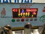 Couleur peignant le prix doux de machine de crême glacée de trois saveurs