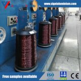 Emailliert/emaillierte Overcoated ringsum Aluminiumdraht für Bewegungsdas rückspulen