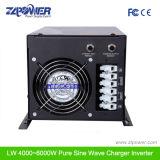 W7 omleidings de Grote LCD Omschakelaar 1000W-6000W, 12/24/48 VDC, 110/220/230/240VAC van de Golf van de vertonings Zuivere Sinus