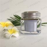 Frasco de creme acrílico da alfazema 50g quadrada para o empacotamento do cosmético (PPC-ACJ-077)