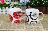 Tasses de café décoratives personnalisées 12oz Ceramic Love Heart