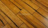 Revêtement de sol en bambou tissé à structure carbonisée French Bleed Color
