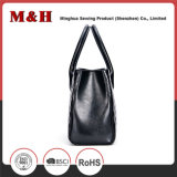 새로운 디자인 고품질 가죽 검정 형식 여자 핸드백