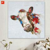 Confettis caricature d'impression d'art de la vache vache Peinture d'huile