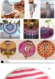 Mandala фиоритуры конструирует полотенце пляжа Microfiber круглое с Tassels (4 вида конструкций)