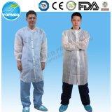 Wasserdichter PP+PE Labormantel, Wegwerf-PP+PE Labor-Kleid
