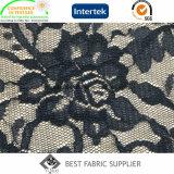 Tela de la guarnición de la chaqueta de cuero de Dress Skirt Fabric del cordón del 100% que hace punto de la tela de señora de nylon