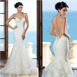 Платье венчания сборок двойного слоя сексуальных двойных планок полнометражное