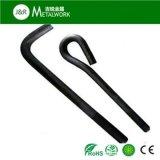 炭素鋼は電流を通した亜鉛によってめっきされたJの基礎ボルト(等級4.8の等級8.8)に