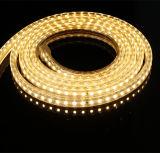 SMD3528 60LEDs/M 120LEDs/M AC230V scaldano la striscia flessibile bianca del LED