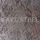 Edelstahl-silberne Farbe geprägtes Blatt Kem002 für Dekoration-Materialien
