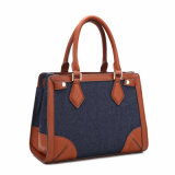 Casual Contrast Color Square Shape Lady Tote Bag (MBNO040125)