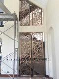 El metal trabaja las pantallas decorativas del metal de la pared para los proyectos del restaurante y del hotel