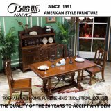 Table de salle à manger en bois massif de conception simple pour usage domestique de bonne qualité As835