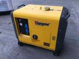 gerador silencioso Diesel portátil fresco do ar 6-9kw Soundproof silencioso