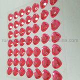 autoadesivi di pietra acrilici del diamante del cuore di 8mm per la decorazione