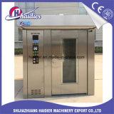 Horno rotatorio diesel/eléctrico del gas del equipo de la panadería del estante para la hornada del pan