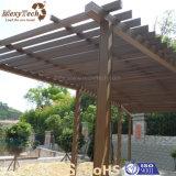 Pergola extérieur personnalisé en bois du jardin WPC de type chinois
