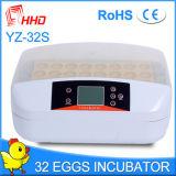 Hhd новейших полностью автоматическая 32 яиц инкубатор с индикатором