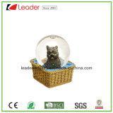 Polyresin воды земного шара с собакой фигурка для рекламных подарков и украшения