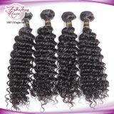 Толстыми концами волос человека глубоко Curl 12дюйма-30 дюйма монгольской Virgin волос