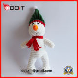 Juguete del perro del día de fiesta del juguete del perro del muñeco de nieve de la Navidad de la felpa