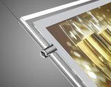 Caixa de luz de cristal de LED com superfície magnética