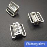 Зажим Rhinestone нижнего белья в серебре металла 12mm