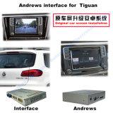 Auto-videoschnittstelle für Sitz usw. Volkswagen-Sharan Tiguan Skoda mit dem MIB-System, androider Navigations-Rückseite und dem Panorama 360 wahlweise freigestellt