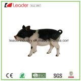 가정 훈장과 정원 장신구를 위한 Polyresin 현실적 예쁜 돼지 서 있는 작은 조상
