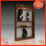 Estante de madera de la ropa del estante de la ropa para el almacén