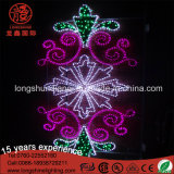 Multicolor Ce RoHS LED Decoração 2D Flower LED Motif Light