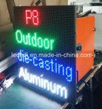 Modulo esterno dello schermo di visualizzazione del LED P8 per la pubblicità della visualizzazione di LED esterna del comitato dell'affitto LED del video HD