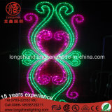 Multicolor Ce RoHS LED Decoration 2D Flower LED Motif Light