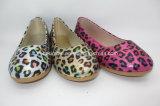 Новые ботинки танцульки PU печатание леопарда плоско мягкие для малышей