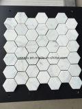 Bianco Carrara carreaux de mosaïque de marbre blanc pour le dosseret de cuisine et salle de bains