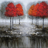 Décoration maison Huile sur toile canvas peinture de paysages d'arbres