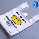 Изготовленный на заказ хозяйственная сумка пластмассы качества печатание тенниски