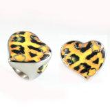 La moda de acero inoxidable Venta caliente Leopard Imprimir Anillo de dedo