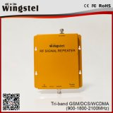 De beste Verkopende GSM van het Product Repeater van het Signaal van de TriBand van DCS WCDMA 2g 3G 4G Mobiele