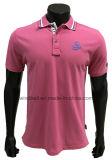 T-shirt liso do polo para homens